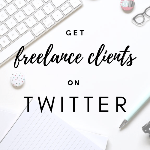 Get freelance clients from twitter